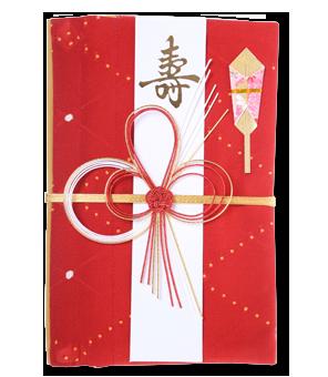 ご祝儀袋 結姫 赤松(シルク)赤織朱点