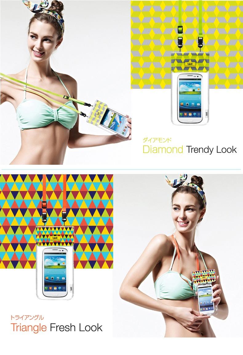 商品詳細bikit スマートフォン用ファッション防水ポーチfor smartphone