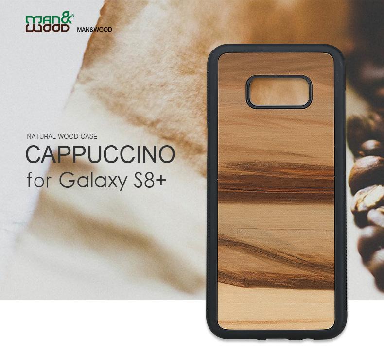 Galaxy S8+ 天然木ケース Cappuccino
