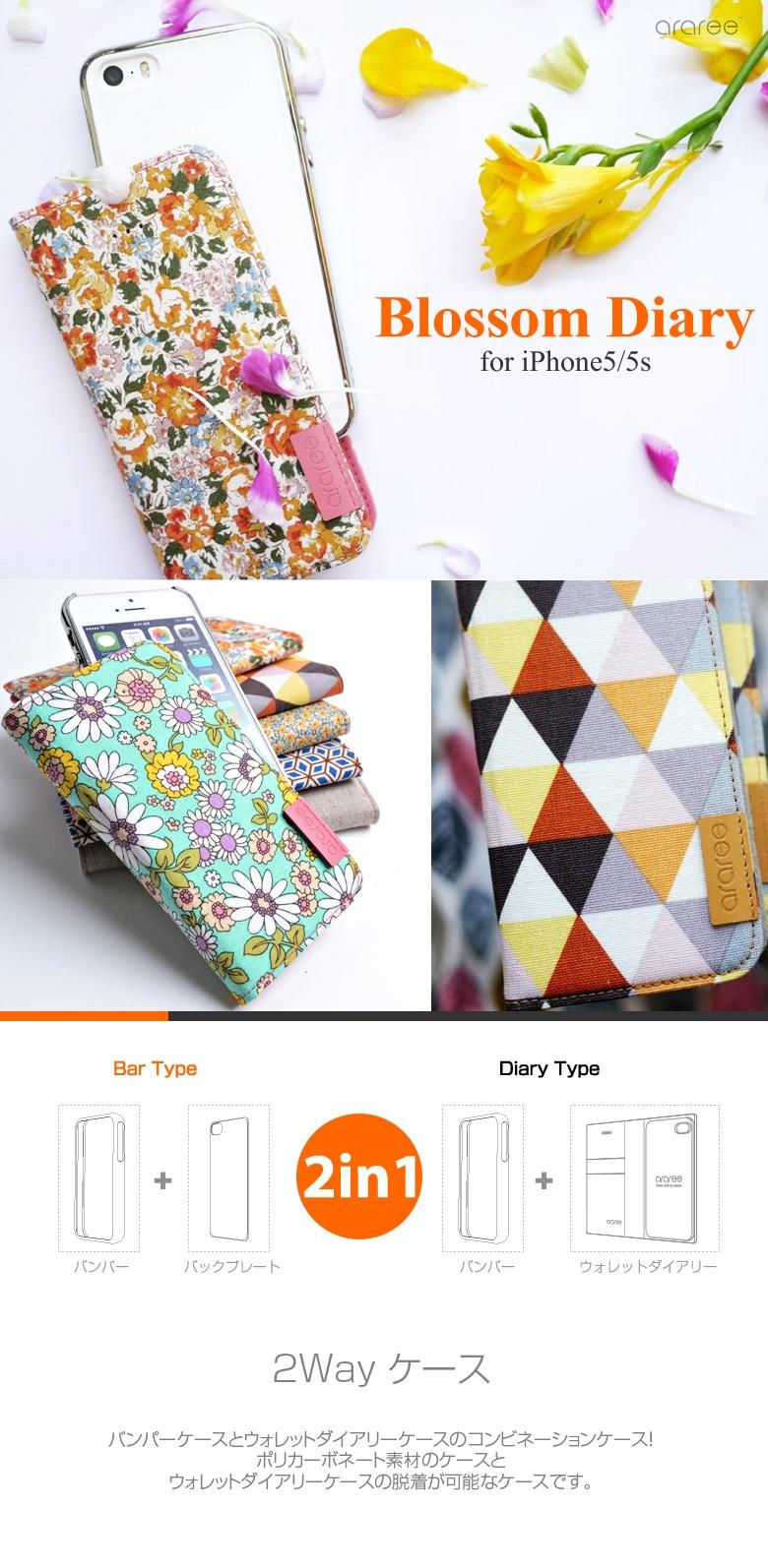 ������ħ iPhone5/5s ������Blossom Diary (�֥�å���������)