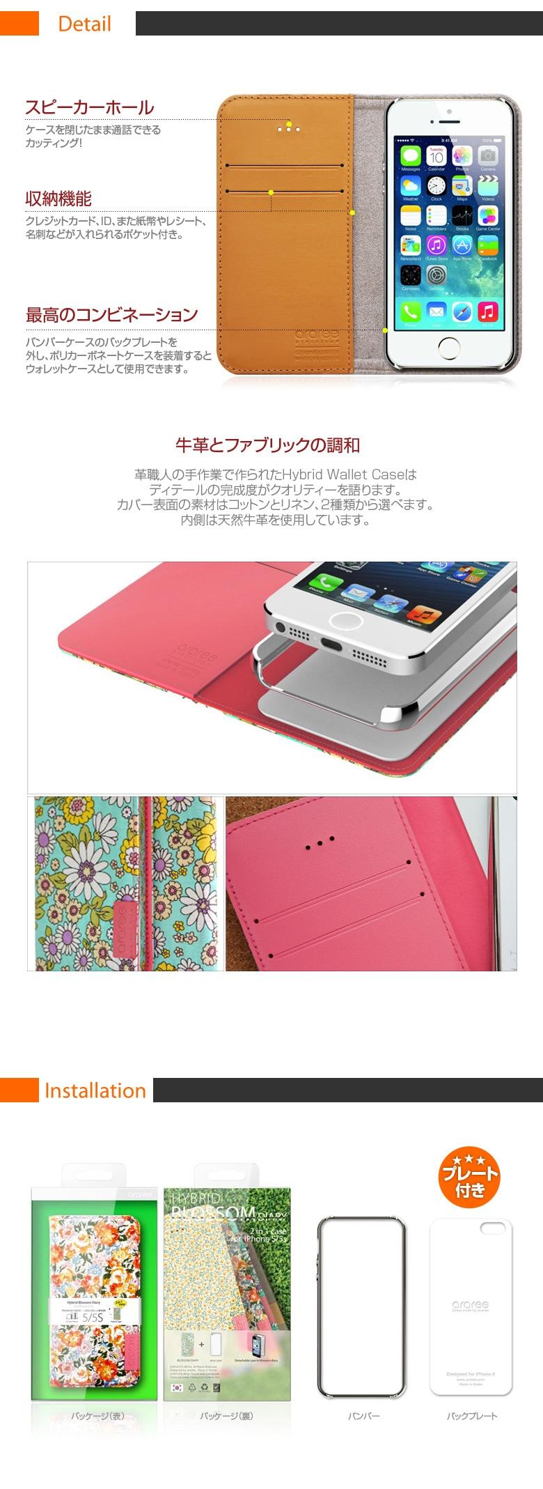 ���ʾܺ�iPhone5/5s ������Blossom Diary (�֥�å���������)