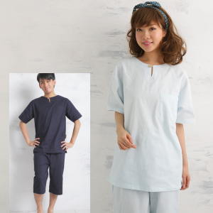 半袖・半ズボンパジャマ涼しい・2重ガーゼパジャマ