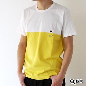 暗殺教室×ALOYE 2 殺せんせー刺繍Tシャツ ホワイト×イエロー
