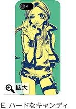 バッファロー5人娘 iPhone 5, 4/4Sケース「マットタイプ」E. ハードなキャンディ