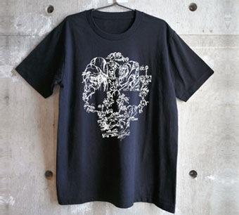 画伯のスカルTシャツ ホワイト