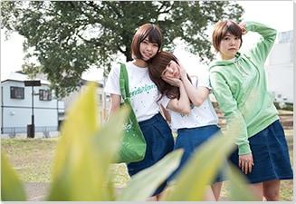 左からKaede、Nao☆、Megu。