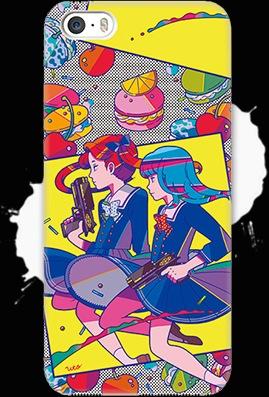 脳漿炸裂ガール「マカロン食べたい」iPhoneケース