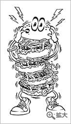鬼束ちひろ & BILLYS SANDWITCHES BIGバーガースウェット 使用イラスト