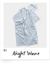 水曜日のカンパネラ×NOWHAW パジャマ(gown&night cap)