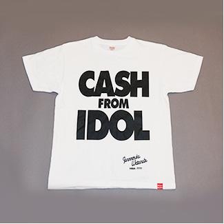 「CASH FROM IDOL」復刻Tシャツ(WACKバージョン)