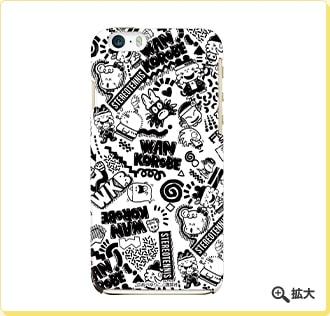 わんころべえ モノトーンiPhoneケース(5/5s用、6用)