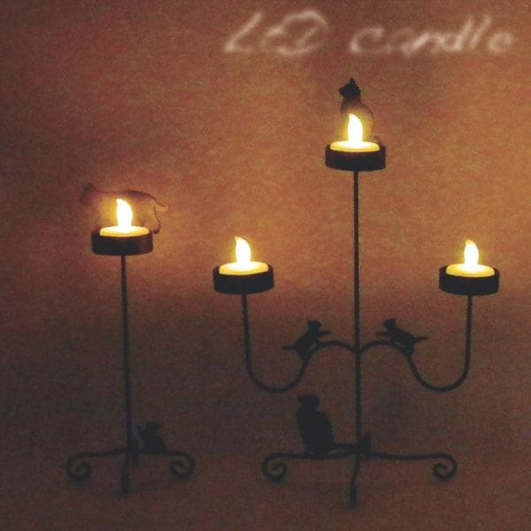 LEDライトのキャンドルだから、火事などの心配がいらないところがステキ。お部屋の明かりを暗くするとムード満点です。