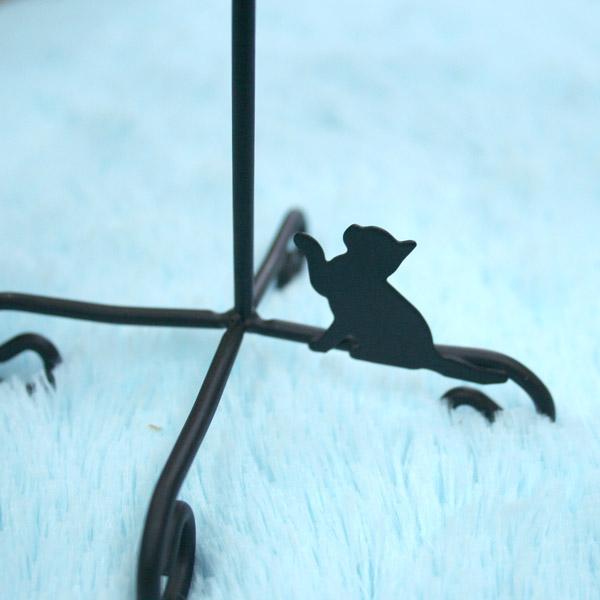 Abeille LEDキャンドル&スタンド 猫 ブラック S