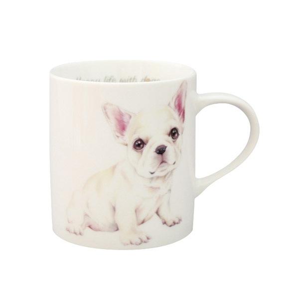 かわいいワンちゃんプリントのマグカップ、わんコレシリーズ。