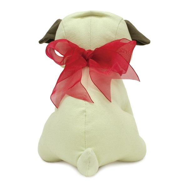 犬のぬいぐるみタイプの色紙にメッセージを添えてプレゼント。結婚式や卒業式などのお別れ会、思いで作りにぴったりです。