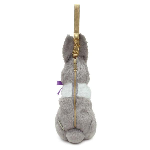 ペンやコスメにお勧めの、ウサギのポーチ。ウサギの頭にある王冠がワンポイント。ゴルフボールも3個入ります。
