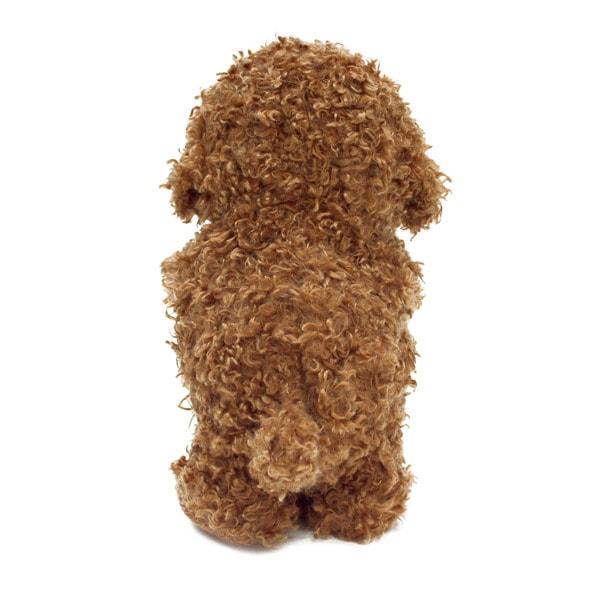 歩きながらおしゃべりもする犬のぬいぐるみ型おもちゃ。喋った言葉を真似してお話します。