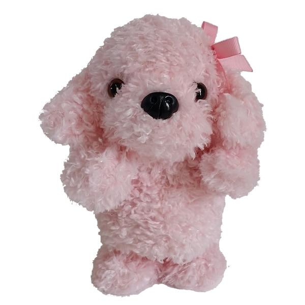犬のぬいぐるみ型おもちゃ。喋った言葉を真似してお話します。