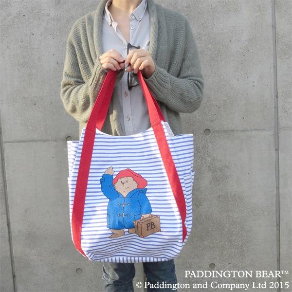 パディントン ベア キャンバストート ブルー