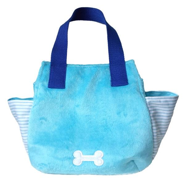 お財布、マナー袋、おやつもおもちゃも入れてお出かけ♪持ち手は肩にも掛けられる長さで、ちょっとそこまでのお買い物にちょうど良い、トイプードルのお散歩バックです。