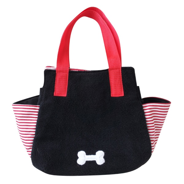 お財布、マナー袋、おやつもおもちゃも入れてお出かけ♪持ち手は肩にも掛けられる長さで、ちょっとそこまでのお買い物にちょうど良い、ダックスのお散歩バックです。