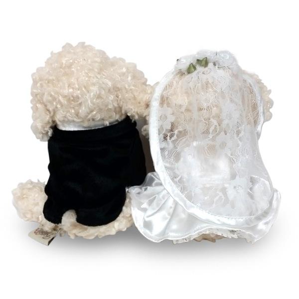 大好評のプレミアムパピーシリーズからトイプードルのWEDDING DOLLが登場。結婚祝いのプレゼントに、ウェルカムドールに最適です。