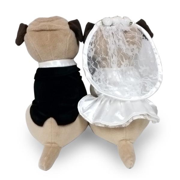 大好評のプレミアムパピーシリーズからパグのWEDDING DOLLが登場。結婚祝いのプレゼントに、ウェルカムドールに最適です。