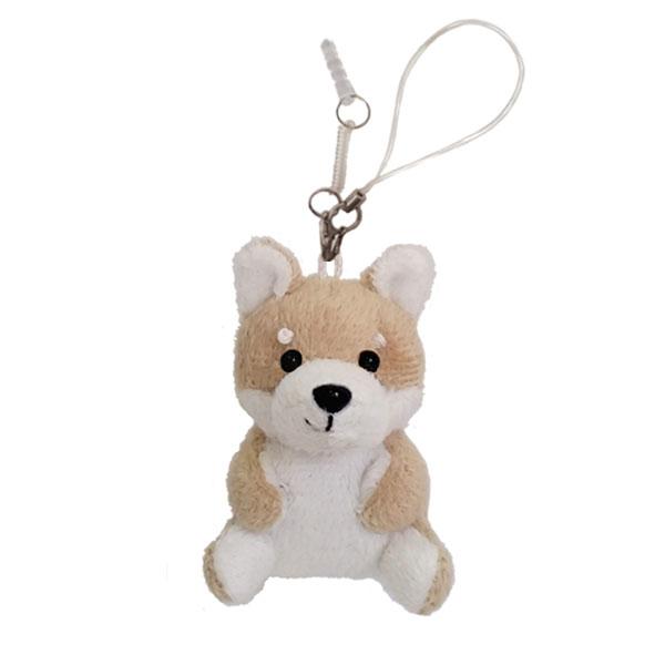 スマホ・携帯ストラップ|モバイルクリーナー 柴犬 おすわり