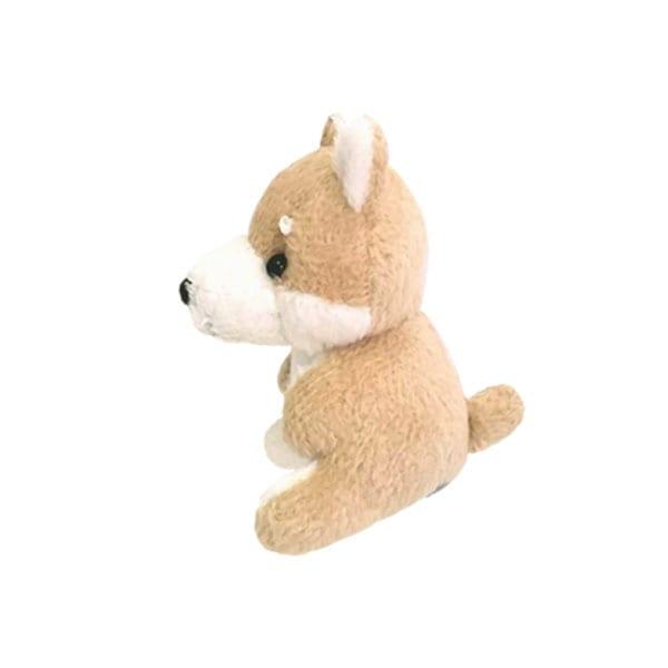 プチサイズの犬のぬいぐるみがかわいい携帯ストラップ(画面クリーナー付き)