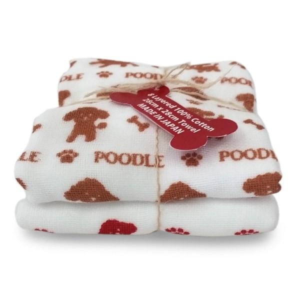 肌触り抜群、安心安全品質、トイプードルのタオルです♪