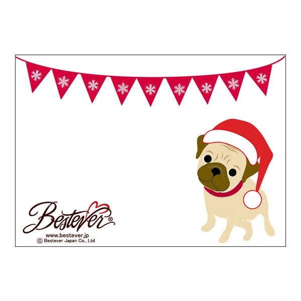 オリジナルメッセージを入れられるクリスマスカード