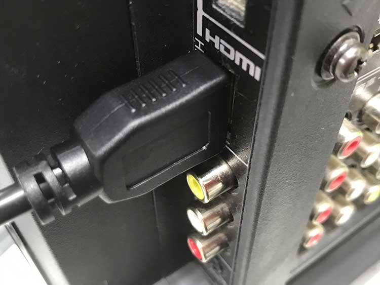 HDMI入力端子に