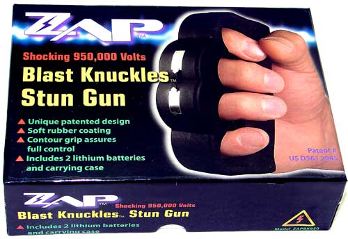 「ZAP-n95」95万ボルトナックル型スタンガン・ZAPシリーズ