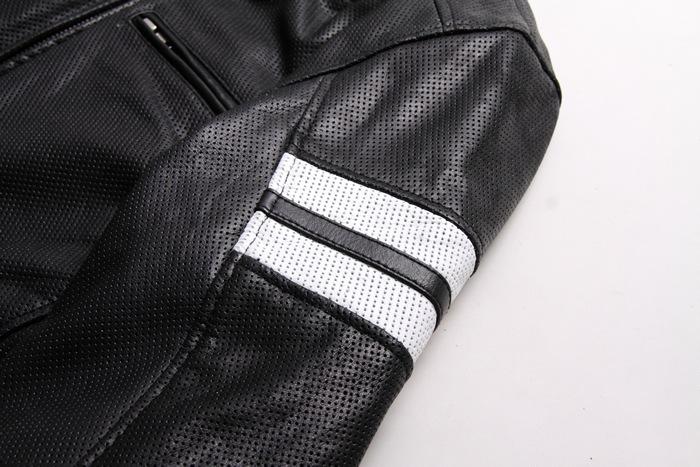 「暑いから」とTシャツでバイクに乗るのは危険!夏でも着ることができるメッシュのレザージャケット!! 15sj