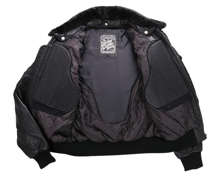 レザー 本革 牛革 ボア フライト ヴィンテージ ブラック バイカ— ジャケット 秋 冬 男 16WJ-10 デグナー