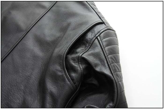 レザー 本革 牛革 肉厚 ライダース ブラック バイカ— ジャケット 秋 冬 男 16WJ-5 デグナー DEGNER バイク