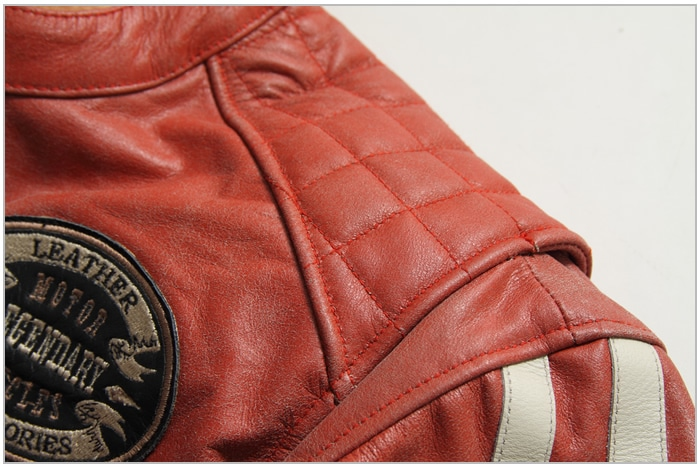 レザー 本革 牛革 シャーリング アクションプリーツ ライダース レッド バイカ— ジャケット 秋 冬 男 16WJ-9 デグナー DEGNER バイク