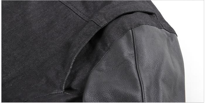 レザー デニム コンビネーション ライダース スマート シルエット 本革 ジャケット ブラック 18WJ-12-BK