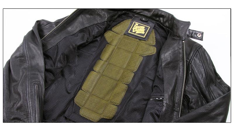 レザー 本革 シンプル ブラック メッシュ ジャケット HSJ-17 限定 ヘッドショップ デグナー