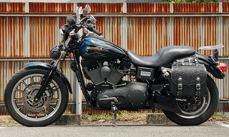バイクカービングサイドバッグ送料無料ハーレーサイドバック本革レザーサドルバッグタンデグナーSB-57