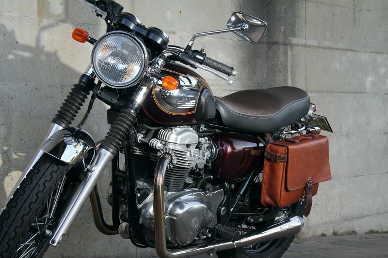 バイク サドルバッグ 本革 ハーレー ツーリング シープ 羊革 サイドバッグ ダークブラウン SB-58-DB