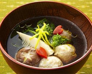 鶏つくねと春野菜の煮込み汁