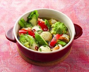 野菜いっぱいアヒージョ