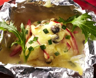 カレイのゆずみそマヨチーズ焼き