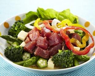 夏鰹の漬け野菜サラダ