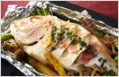 白身魚と旬野菜の風船蒸し