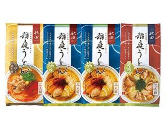 比内地鶏スープで食べる稲庭うどん 化粧箱入 3種8食詰合せセット