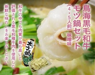 鳥海黒毛和牛 モツ鍋セット(4-5人前)味噌味