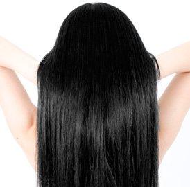 美しい黒髪をより魅力的に見せるブラック