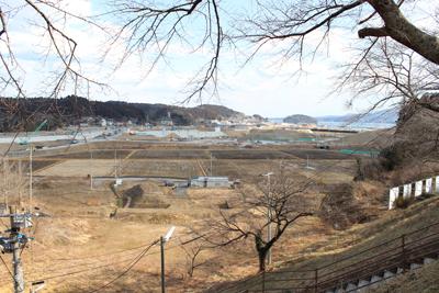 志津川高校から見える南三陸町